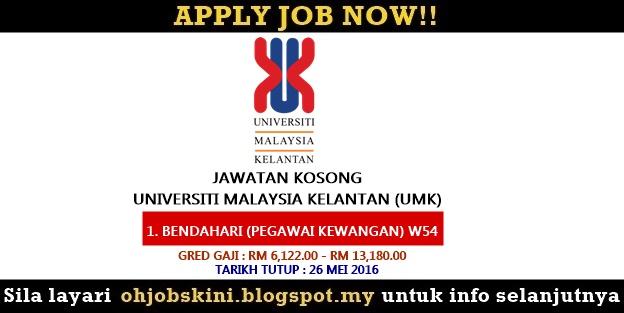 Iklan jawatan kosong Universiti Malaysia Kelantan (UMK)