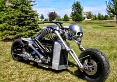 Skeleton Chopper Bike