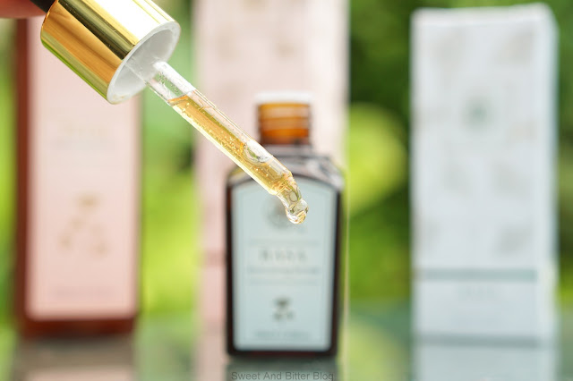 Forest Essentials Rasa Activating Serum Texture, Packaging