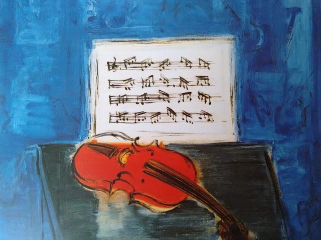 Raoul Dufy, Museo Thyssen Bornemisza, Madrid, spain, exposicion, color, colores, azul, rojo, violin, partitura, musica, arte, art, music, solfege, voa gallery, yvonne brochard,