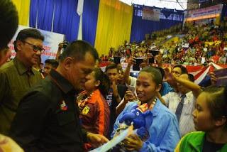 Panglima TNI  Latihan Serius, Disiplin dan Jiwa Juang Yang Tinggi Lahirkan Prestasi Karate