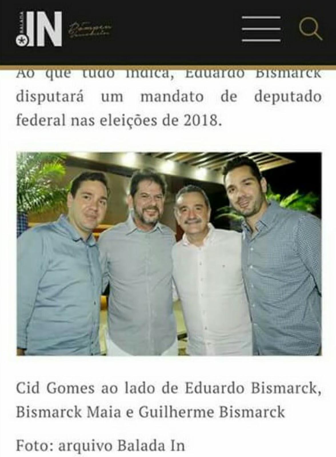 cc8c0af3e0f6f Ao que tudo indica, Eduardo Bismarck disputará uma vaga de deputado federal