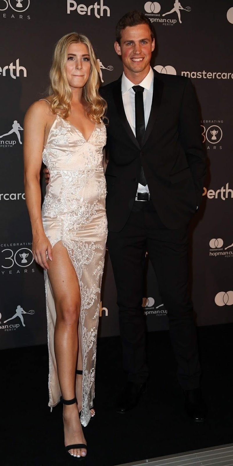 Eugenie Bouchard and Vasek Pospisil at Hopman Cup New Years Eve Players Ball
