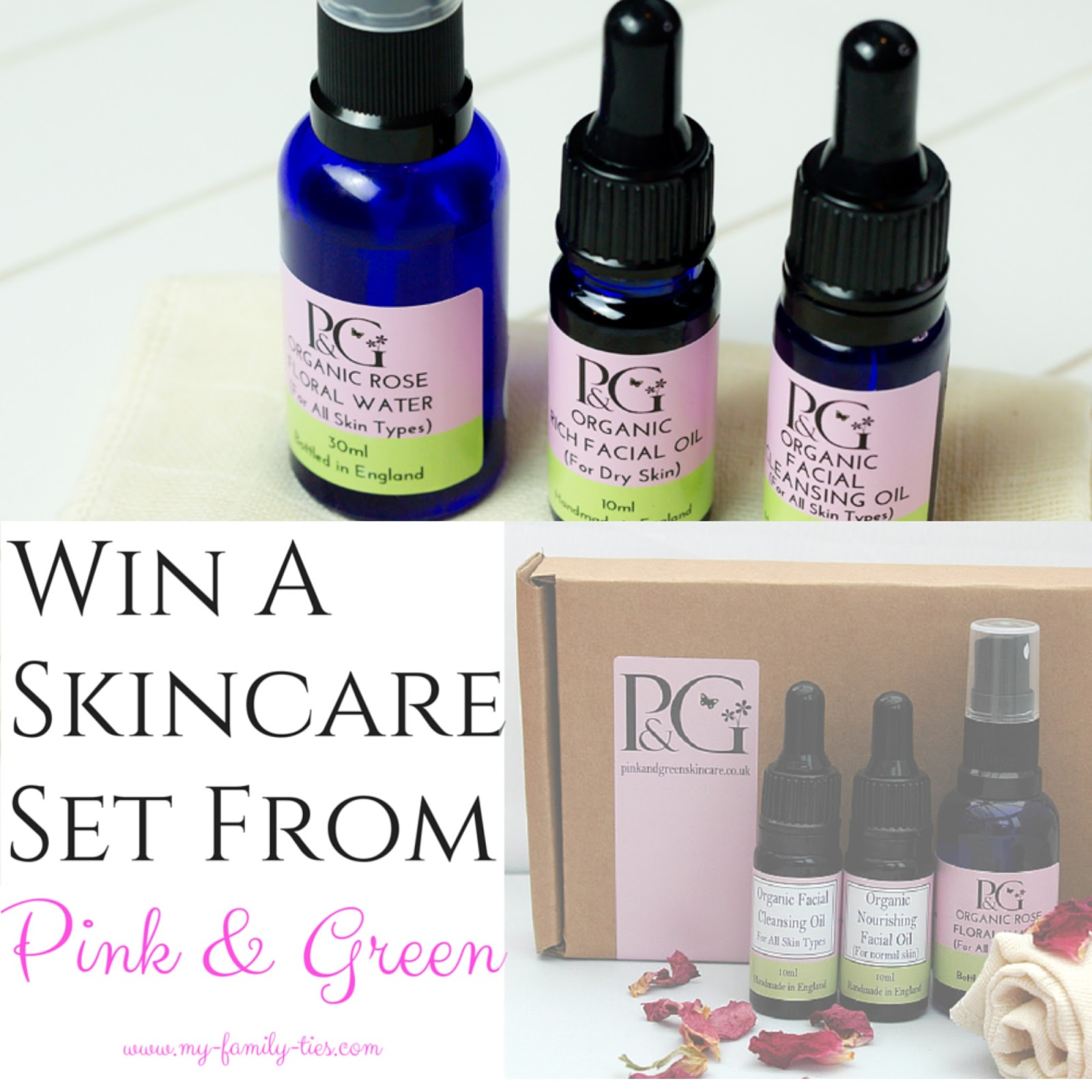 Pink & Green Organic Skincare Collection giveaway photos by My Family Ties Blog www.my-family-ties.com