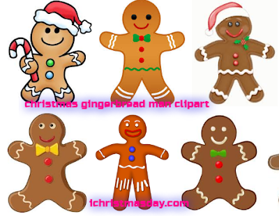 christmas gingerbread man clipart