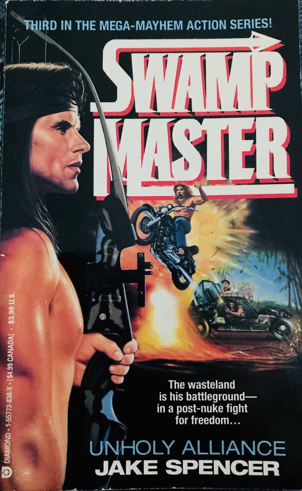 If Paperback Warrior celebrated a Hall of Shame, then two of the three  books in this 'Swampmaster' series would absolutely be inducted.
