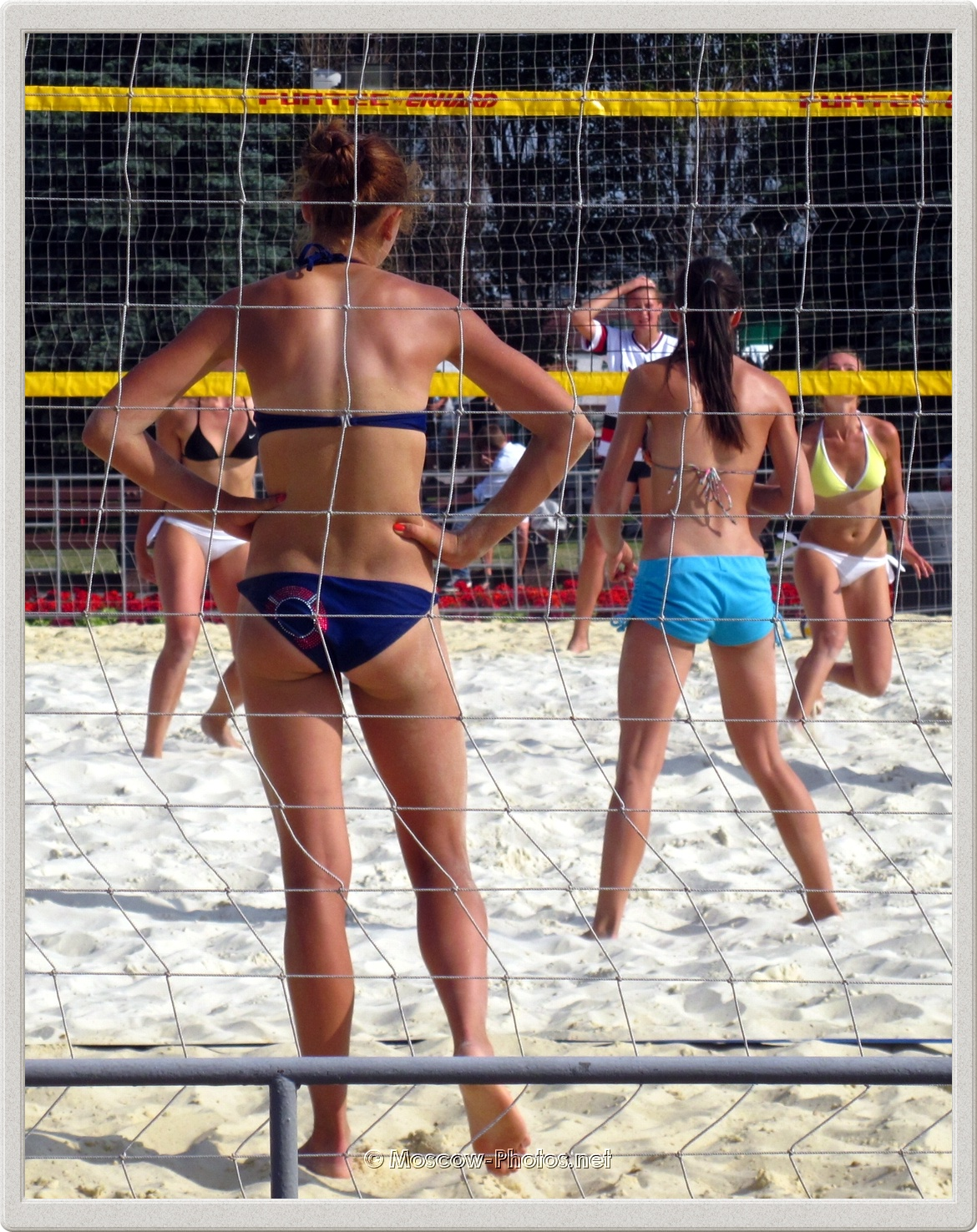 Tanned Beach Volleyball Girls In Moscow