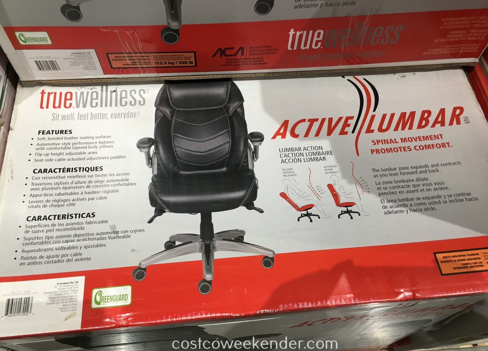 True Innovations Chair Costco Wrought Iron High Top Table And Chairs Wellness Active Lumbar