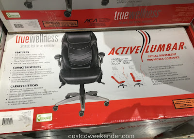 True Innovations Office Chair Covers Pattern Wellness Active Lumbar | Costco Weekender