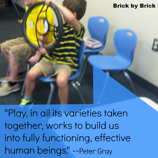Gray Quote about Play (Brick by Brick)