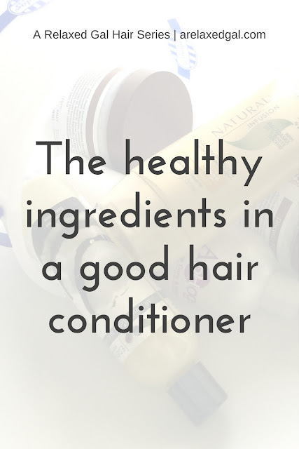 A break down of types and uses of conditioners and what ingredients make up a good conditioner. | arelaxedgal.com