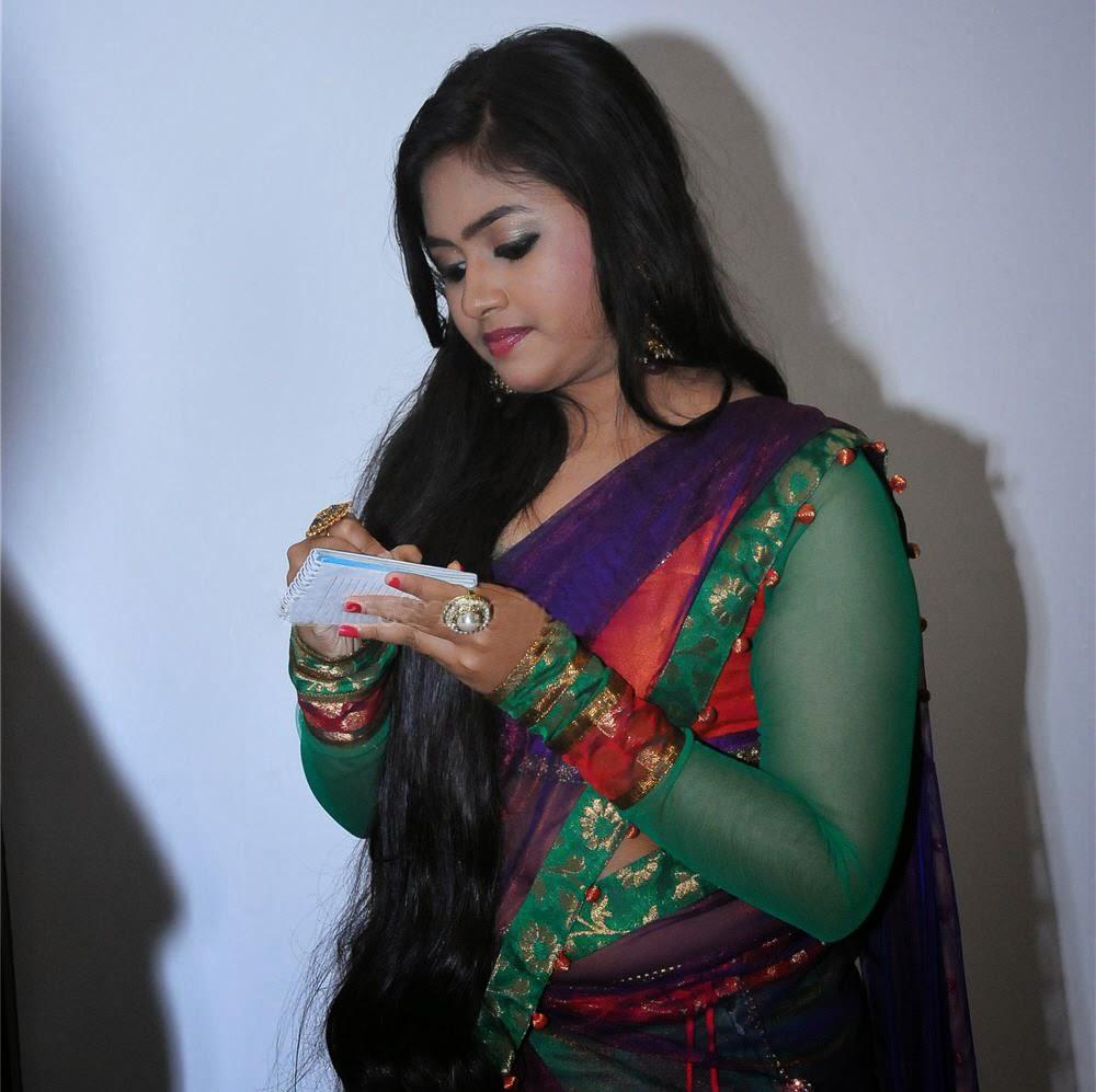 half saree hot navel