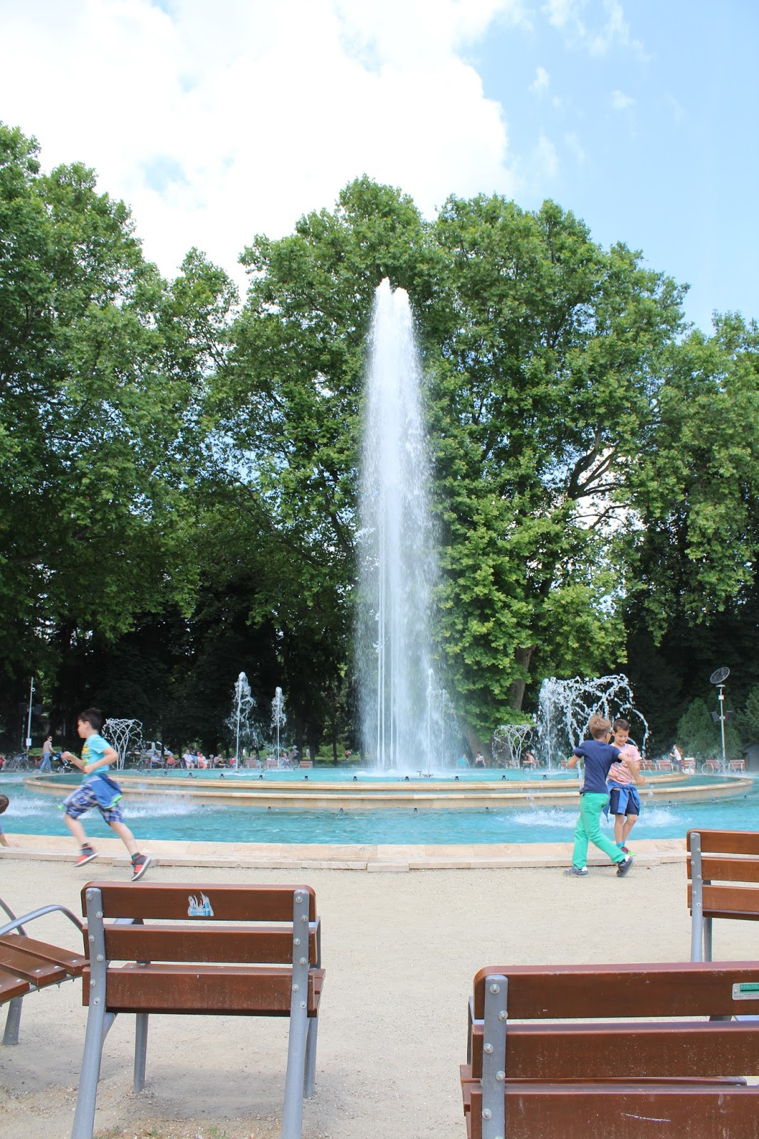 Fountain on Margaret Island in Budapest