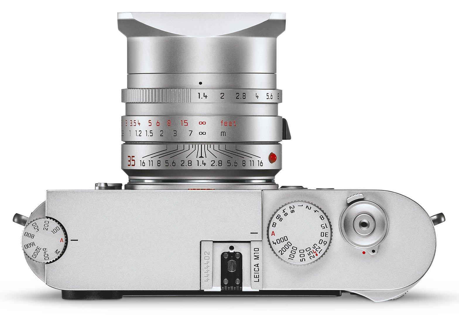 Leica M10, вид сверху