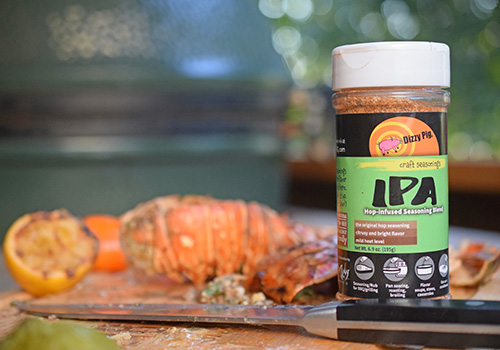 Dizzy Pig IPA seasoning used on lobster tail