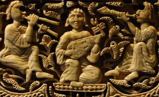 medallón músicos arqueta de Leyre