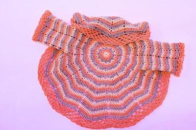 5-Imagen abrigo redondo a crochet y ganchillo. Majovel Crochet