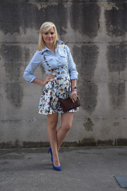 outfit scamiciato come abbinare uno scamiciato abbinamenti scamiciato outfit aprile 2017 outfit primaverili  mariafelicia magno fashion blogger colorblock by felym fashion blog italiani fashion blogger italiane blog di moda