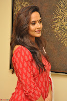 Anasuya Bharadwaj in Red at Kalamandir Foundation 7th anniversary Celebrations ~  Actress Galleries 030.JPG