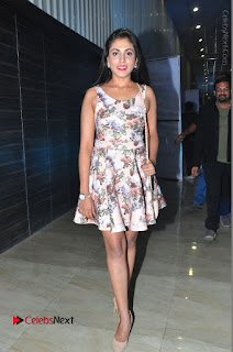 Actress Madhu Shalini Stills in Floral Short Dress at RGV Shiva to Vangaveeti Event  0187.JPG