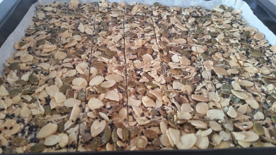 Simply Homemade: Almond Brittle with Pumpkin, Sunflower & Sesame