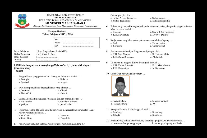 Download Soal Soal Ips Uh Ulangan Harian Kelas 5 Semester 2 Lestari Pendidikan