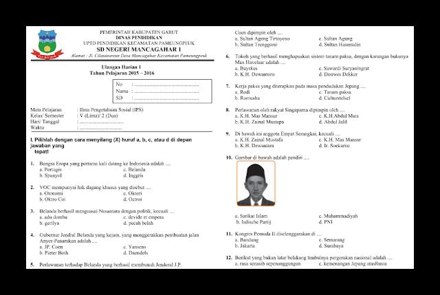 Soal UH (Ulangan Harian) IPS Kelas 5 Semester 2
