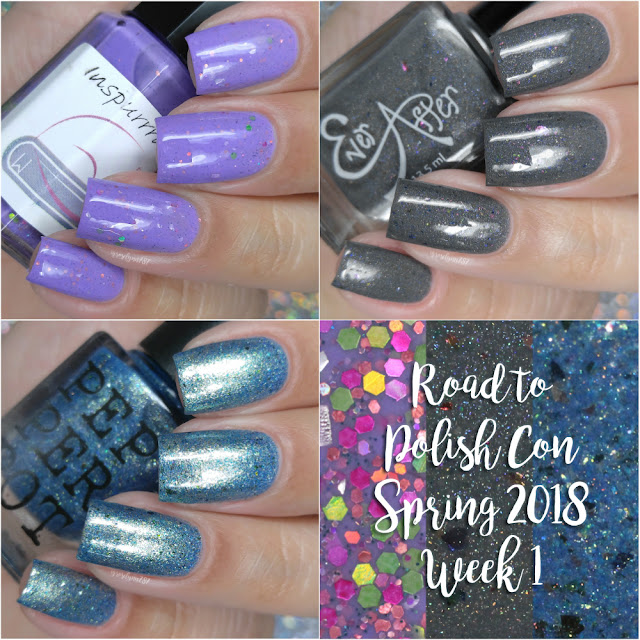 Road to Polish Con Spring 2018 | Week 1 - Ever After, Inspurrrations, Pepper Pot Polish
