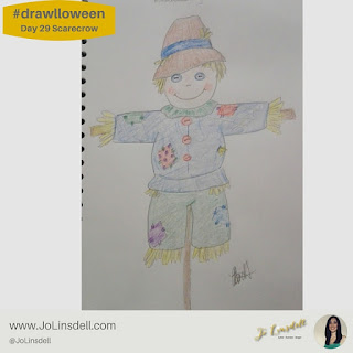 #Drawlloween Day 29 Scarecrow #Drawing #challenge