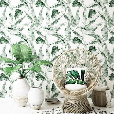 interior con decoración de naturaleza - papel pintado 038