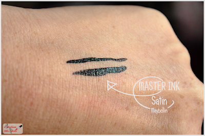 swatches Master Ink Eyeliner maybelline