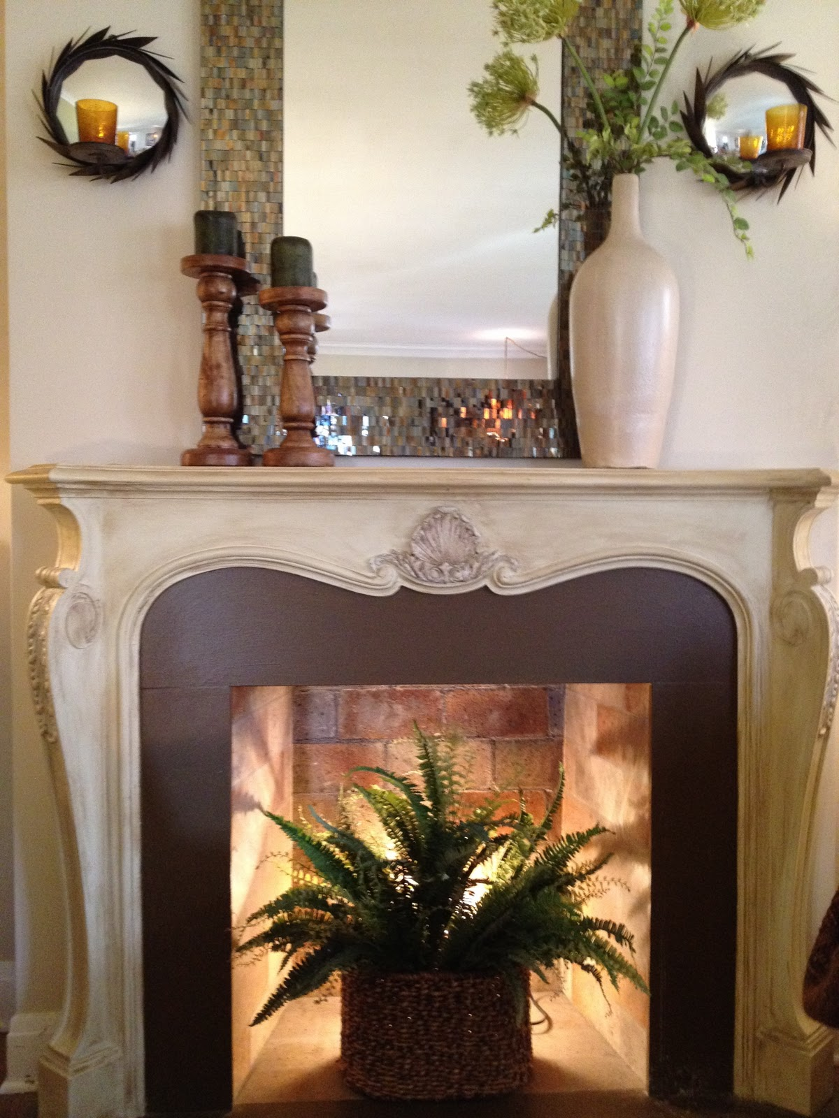 Amy scott interior design my living room - Decorating inside a fireplace ...