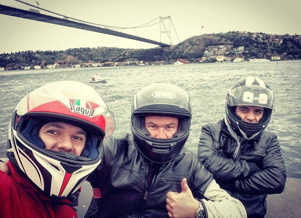 Tigho NYDucati: Riding Istanbul in the Rain with Sinan Soyalp and Barlas Gunay Turkey by Motorcycle