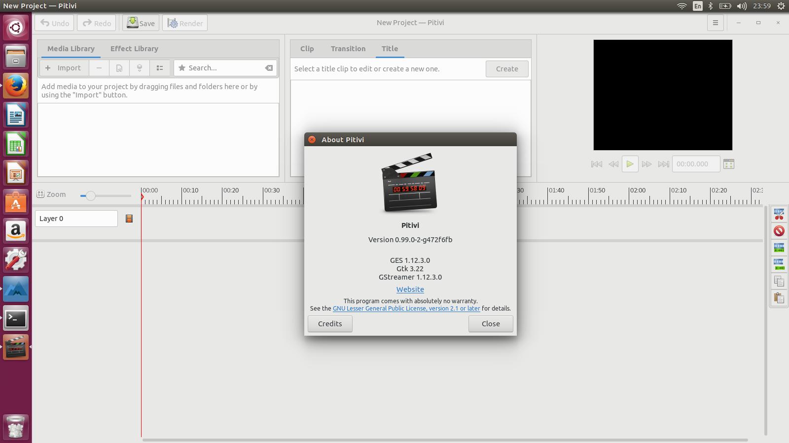 video da terminale ubuntu