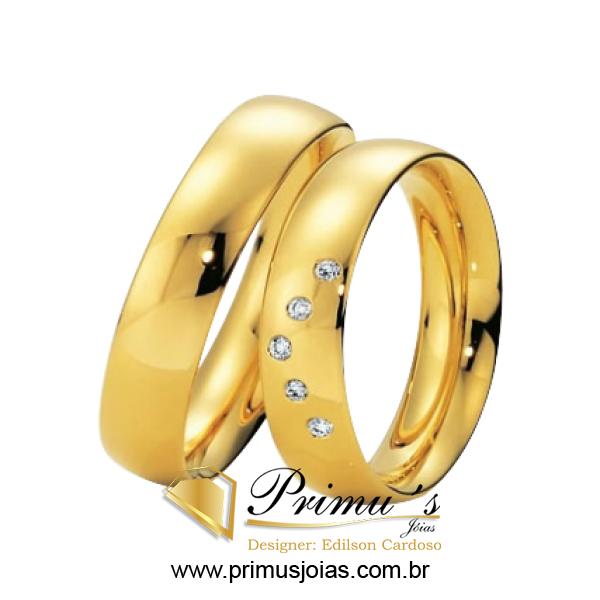 5505e75c78f Alianças com diamantes Joaoeduardo Ourivesaria - alianças de ouro com  brilhantes
