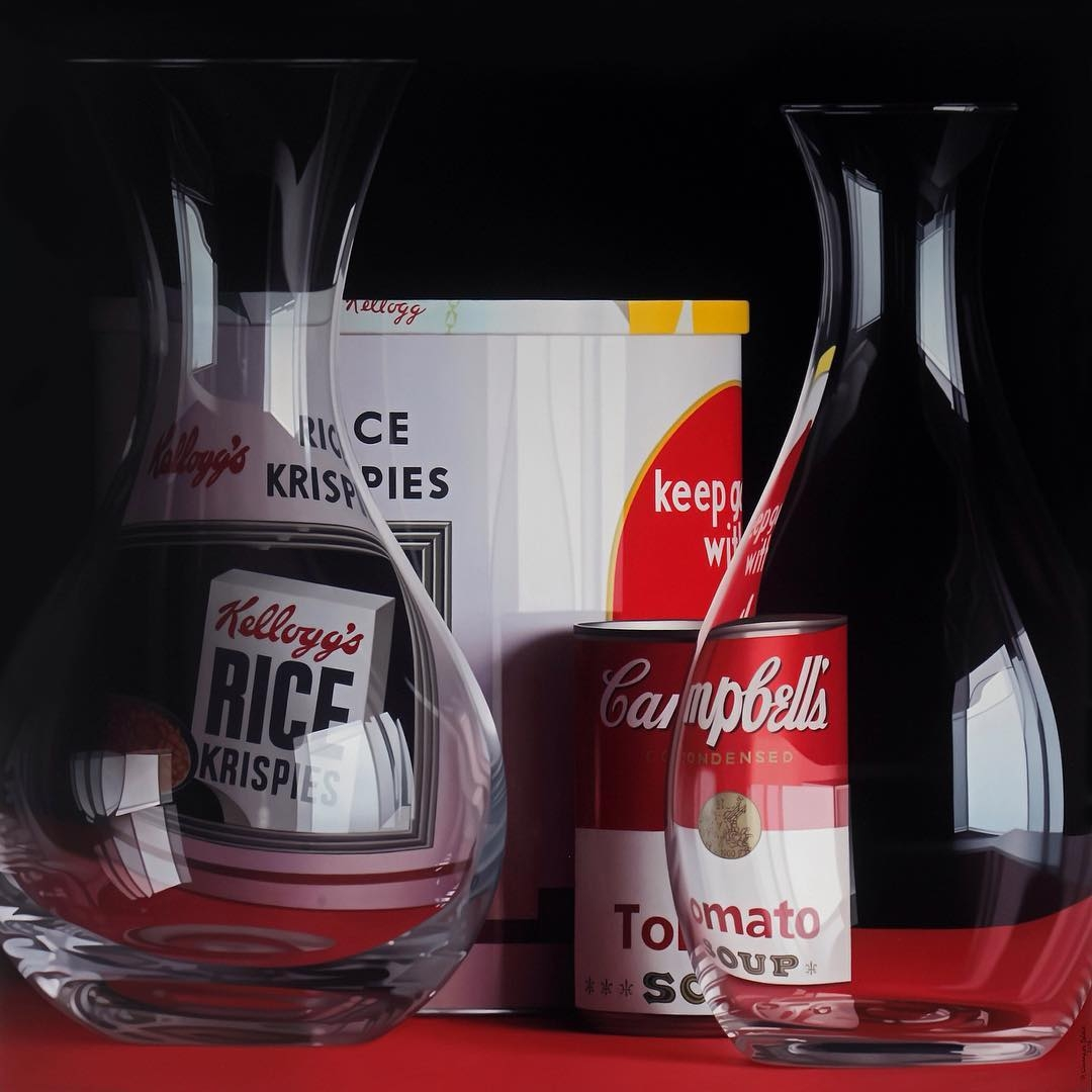 02-Rice Krispies and Campbells-Pedro-Campos-Realistic-Paintings-Coupled-with-Classic-Items-www-designstack-co