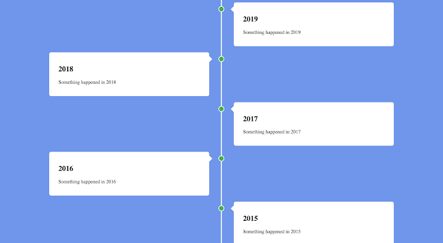Create a responsive timeline with HTML and CSS