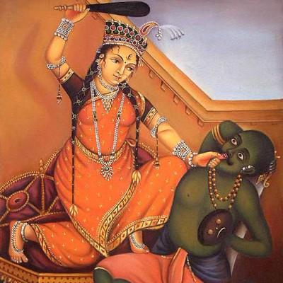 Hindu Goddess bagalmukhi image