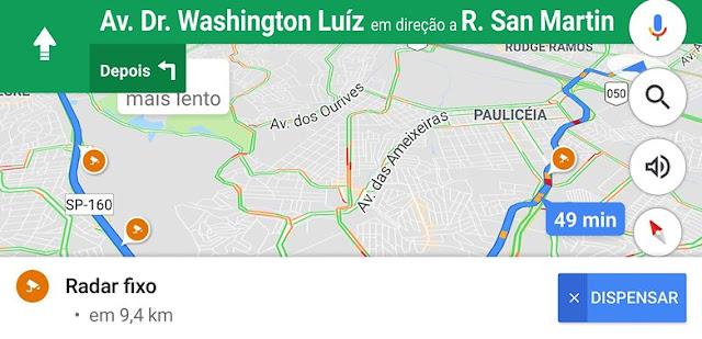 Google Maps agora alerta sobre radares de velocidade