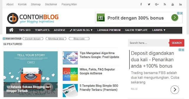 Blog Contohblog.com - Blog Bloging Bisnis Online Internet Marketing Terbaik Di Indonesia