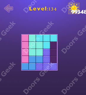 Cheats, Solutions, Walkthrough for Move Blocks Easy Level 134