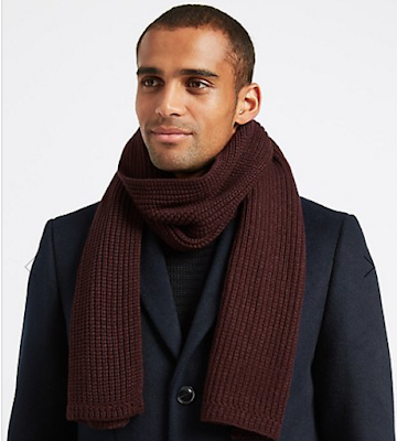 marks and spencer knitted scarf