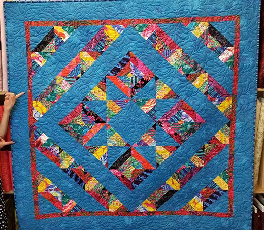 Mirage Quilt Free Pattern designed by Cozy Quilt Designs for Jordan Fabrics,