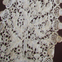 close up of lace lappet