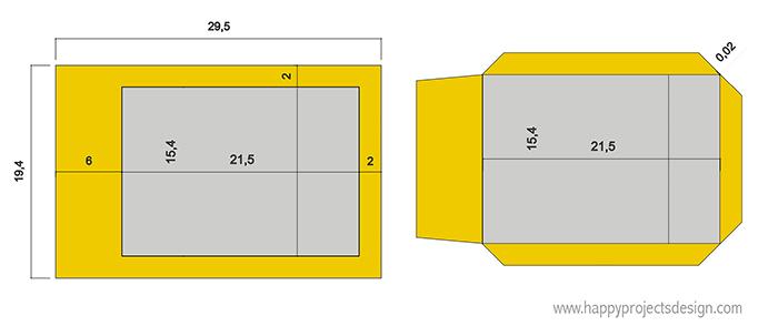 encuadernación japonesa DIY: esquema papel portada