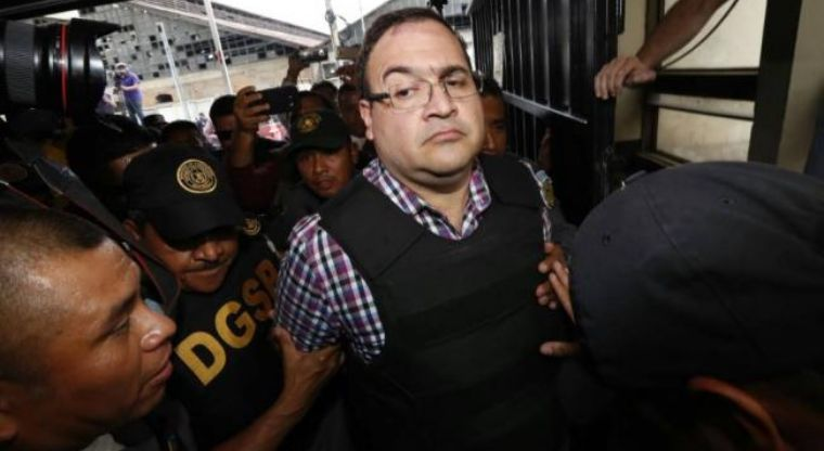 Llega Duarte a Tribunal de Guatemala
