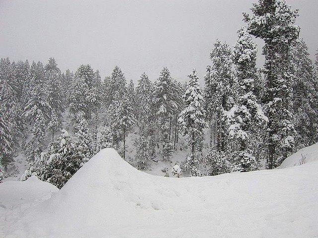 Snow in Swat Valley, Pakistan
