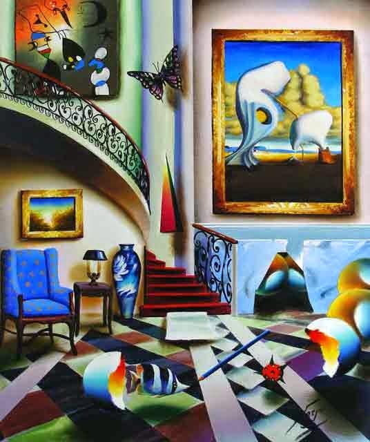 Escada Surrealista - Ferjo e suas pinturas ~ O artista da pintura dentro de outra
