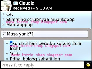 Testimoni Slimming Scrub 3 Days Best Seller
