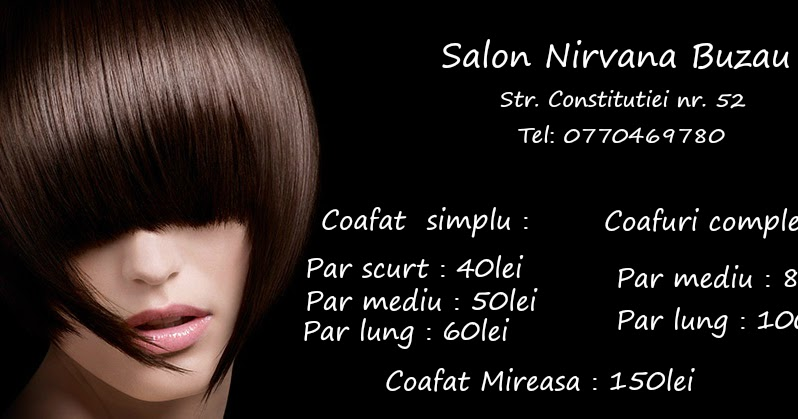 Blogul Salon Nirvana Buzau Salon Nirvana Buzau  Coafuri  Tunsori  Vopsit  Pensat  Makeup